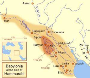 Ancient Babylon Map
