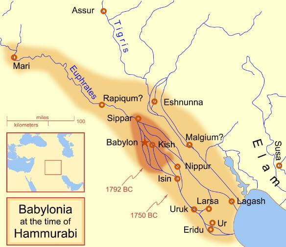 Ancient Babylon Map