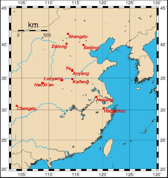 Ancient china map ancient civilizations world ancient china map gumiabroncs Image collections