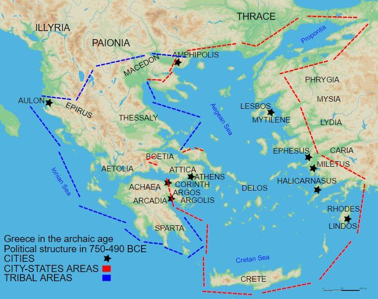 Ancient Greece Map With Cities.Ancient Greece Map Ancient Civilizations World