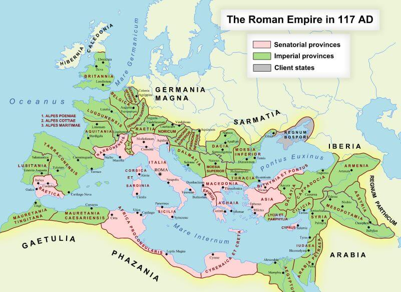 Ancient Roman Empire Map Ancient Civilizations World