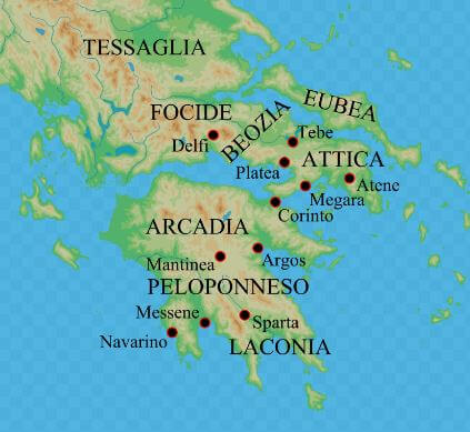 Ancient Greece Map Ancient Civilizations World