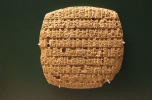 Ancient Sumerian scripts