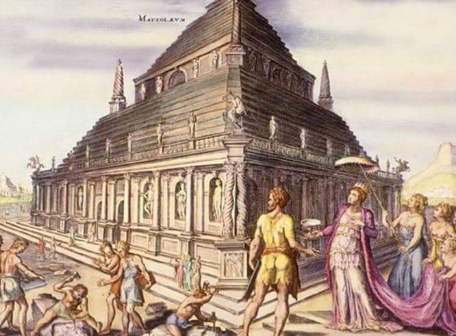 Seven Wonders of the ancient world - Mausoleum at Halicarnassus