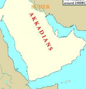 Map of ancient Akkadians