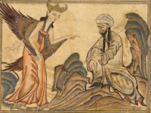 Mohammed receiveing revelation